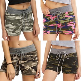 Wholesale casual work pants womens for sale – dress Womens Casual Printed Pocket Beach Work Casual Women Shorts Pants Board Shorts Womens Surf Beach Swimming Short