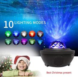 Vente en gros 2020 LED Laser Etoiles lumière du projecteur Veilleuse USB Bluetooth Haut-parleur Lecteur de musique de décoration intérieure à distance pour soirée de mariage