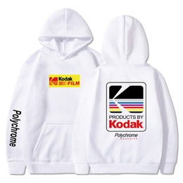 Wholesale hot women hoodies for sale - Group buy The screw thread cuff Japanese Hip Hop Hoody Harajuku kodak Print Hoodies Coats Men Women Sweatshirts Dropshipping Hot Pullover