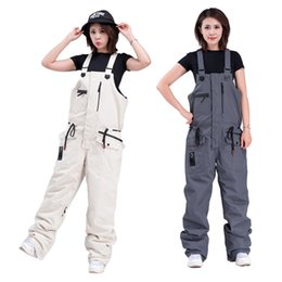 mens ski suits UK - 2020 Ski Pants Women Waterproof Outdoor Sports Snowboard Pants Mens Overalls Warm Ski Suit One-Piece Jumpsuit Snow Wear