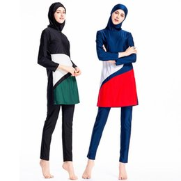 women islamic swimsuit Australia - Muslim Swimsuit Women Muslim-swimsuit Plus Size Islamic Swim Wear Habit Femme Musulmane Moslim Hijab Modest Swimwear for Ladies