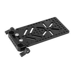 power blocks UK - CAMVATE Cheese Plate Battery Backboard With 15mm Rail Block Rod Clamp For V Lock Power Supply Plate Power Distributor Adapter C25