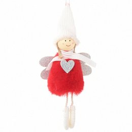 cute christmas tree NZ - Cute Angel Doll Girl Ski Pendant Christmas Tree Decorations For Home Wooden Christmas Tree Ornaments Xmas Gift For Kids uCqH#