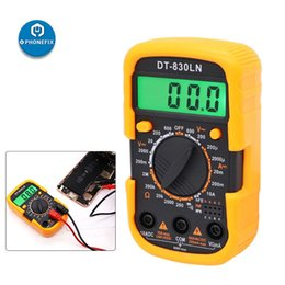 lcd tester Canada - DT-830LN Portable Digital Multimeter LCD Backlight Display Current Meter Tester AC DC Voltage Amp Ohm Ammeter Tester