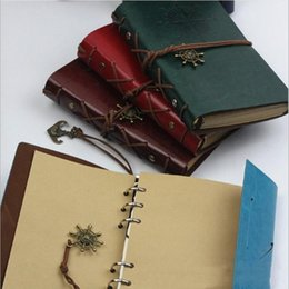 book travelling NZ - Kraft papers journal notebook Vintage garden travel diary books spiral Pirate notepads cheap school student classical books LXL854