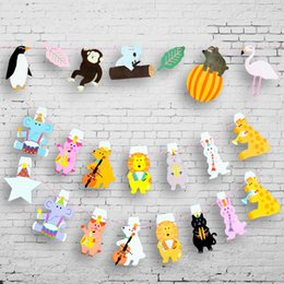 cartoon bunting NZ - 1pc Children's classroom decoration cartoon rainforest animal bunting party flag triangle pennant