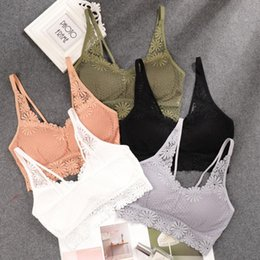 Wholesale lace bralette for sale - Group buy New Arrival Women Push Up Wireless Lace Camisole Breathable Bralette Push Up Top Underwear Plus Size Bralette Underwear Lingerie