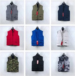 venda por atacado Top Quality New Arrival Casacos de inverno Designer Coats Freestyle Grupo Vest Canadá Homens Roupa S-XXL V001