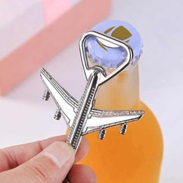 tools keyring Canada - Aircraft Keychain Beer Opener Airplane Keychain Beer Bottle Opener Keyring Birthday Wedding Party Favors Airplane Keychain Openers ZZA1832