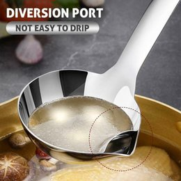 restaurant pots Australia - Newly Oil Filter Spoon Stainless Steel Long Handle Spoon for Hot Pot Restaurant Home Kitchen CTN88