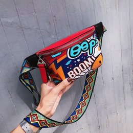 waist belt bags women NZ - FEMALEE Personality Graffiti Belt Bag Women Men Purse Teenagers Wide Strap Travel Waist Funny Pack Chest Bags Case for Phone
