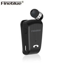 earphones bluetooth stereo Australia - luetooth Earphones & Headphones Fineblue L18 Mini Wireless business Bluetooth Headset Sport Driver Earphone Telescopic Clip on stereo ear...