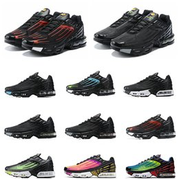 spider shoes running 2020 - 2020 Plus III 3 TN Mens TUNED Running Shoes Classic tn Outdoor shoes Black White Sport Shock Sneakers requin Blue Spider