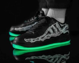 Wholesale NAFBS1 2019 New Hot sale outdoor Casual shoes Forces 1 07 Low Black Skeleton BQ7541-100 Low White Skeleton BQ7541-001 Designer Shoes 36-45
