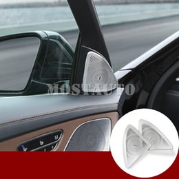 benz audio NZ - For Benz S Class W222 Inner Car Door Audio Speaker Cover Trim 2014-2018 2pcs