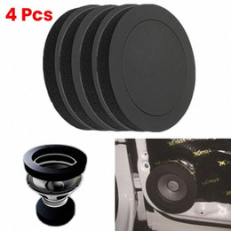 "car bass sound UK - 4 PCS 6.5"" Inch Car Universal Speaker Insulation Ring Soundproof Cotton Pad Bass Door Trim Sound Audio Speakers Self Adhesive 8UPl#"