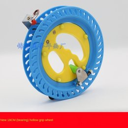 Wholesale easy tires for sale – custom Kite flying wheel cm blue pink plastic wheel easy crystal Crystal to use optional tire line