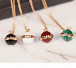 mother pearl for pendant Australia - Luxurious quality pendant sweater necklace with nature sotne malachite red agate and on diamond for women jewelry gift drop shipping PS8010