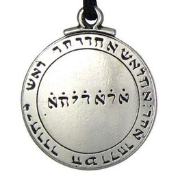 wiccan jewelry NZ - punk Amulet pendant Necklace Talisman Pentacle of Solomon Seal Pendant Necklace Hermetic Enochian Kabbalah Pagan Wiccan Jewelry hot sale