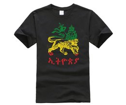 funky shorts Canada - Lion Of Judah Ethiopia In 3 Colors T Shirt Character Original T-Shirt For Men Spring Great Funky Tshirt Tee Tops Short Sleeve