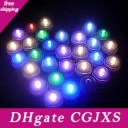 tea light candle scented Canada - Plastic LED 12pcs  Lot Romantic Waterproof Submersible Led Tea Light Electronic Candle Light for Wedding Party Christmas Decoration