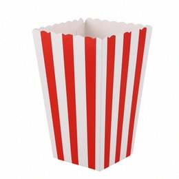 candy treat boxes Canada - 12 Cinema Stripes Treat Party Small Candy Favour Corn Bags Boxes,Red Wrapping Paper For Kids Wrapping Paper For Sale From Hongheyu, $1 BjyB#