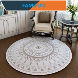 living room chairs home UK - Round Carpets for Home Living Room Nordic Style Bedroom Floor Carpet Study Room Area Rug Computer Chair Hanging Basket Mats