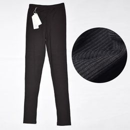 vertical stripes leggings pants Australia - UmmLP Autumn tight Trousers tight pants thin thread cotton leggings vertical stripe ankle-length pants special quality close-fitting elastic