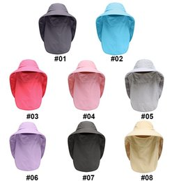 sunshade covers Canada - Outdoor Sunshade Foldable Mesh Sweatband Neck Cover Bucket Caps Sportswear Flap Cap Wide Brim Accessories