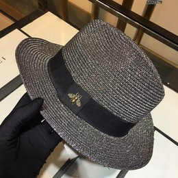white cotton chiffon scarf UK - 4836 Trendy woven straw hat dark gray Letter Printing Woolen Scarf Cap Set Men Woman Cashmere wool Scarf hat