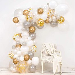 baby shower decorations for girls UK - 101pcs Balloons Garland arch Kit White Silver Rose Gold for Girl Kids Birthday Baby Shower Bridal Wedding Party Decoration T200624