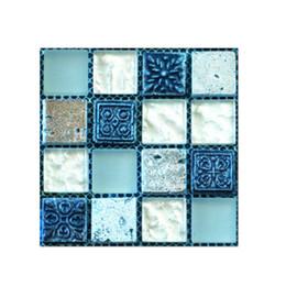 10 * 10cm Kendinden yapışkanlı Mozaik Çini Sticker, Mutfak backsplash Banyo Duvar Karosu Çıkartma Dekor Su geçirmez Peel Çubuk PVC Fayans