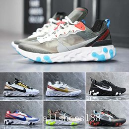 canvas sailing shoes Australia - React Element 87 Undercover Men Running Shoes For Women Designer Sneakers Sports Mens Trainer Shoes Sail Light Bone Royal Tint GBC-2