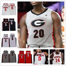 custom basketball jerseys Australia - Custom Georgia Bulldogs Basketball Jersey 20 Rayshaun Hammonds 5 Anthony Edwardsl any name any number mens youth kids jerseys