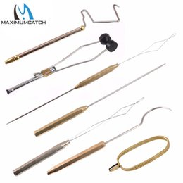 whipping tool NZ - Sports & Entertainment Maximumcatch Stainless Steel Fly Tying Tool Brass Tying Bobbins Whip Finisher Needle Threader Fishing Tools