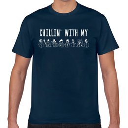 Tops T Shirt Men chillin with my snowmies homies christmas Fit Inscriptions Custom Male Tshirt