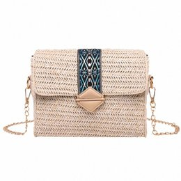 wholesale straw ladies handbags Australia - Summer Beach Handbags Women Messenger Bags Square Straw Hand Woven Ladies Crossbody Bag Shoulder Rattan Bags Bolsa Feminina uOfe#