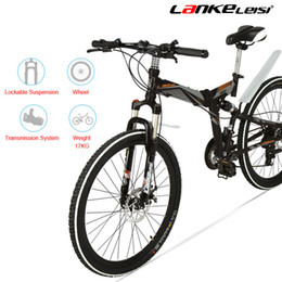 26 inches folding bikes NZ - K660M 24 26 inch Folding MTB Bike,21 Speed folding bicycle,Lockable Fork,Front & Rear Suspension,Both Disc Brake, Mountain Bike