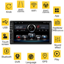 Ingrosso FreeShipping 2DIN Android 8.1 7 '' Car Multimedia Player 16G 32G 64G WiFi FM RDS DAB AUX USB TF GPS Car Audio Radio 2Din Navigation Player