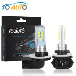 h27w led bulb Australia - 2Pcs H27 880 881 Led Bulb P13W Led PSX26W H27W 1400LM 6000K White Car Fog Light Driving Running Lamp Auto 12V