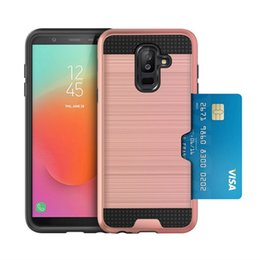silver dirt NZ - Free shipping hot sale Soft Shockproof Carbon Fiber Phone Case For samsung galaxy j8 2018 with dirt resistant