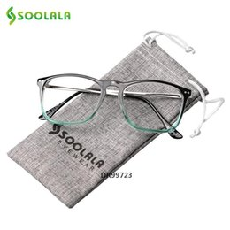 half frames reading glasses UK - SOOLALA Oversized Womens Mens Full Rimmed Reading Glasses Large Horn Clear Lens Eyeglass Frame Reading Glass 2.5 to 4.0 MX200527DR99723