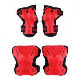 bicycles for children Canada - 6 Pcs Reflective Knee Pad Elbow Pads Bike Skate Protection Equipment Set for Kids Children Outdoor Sports Running Bicycle WMLr#