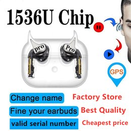 chinese earphones Canada - AP3 AP2 H1 Chip AirPro Wireless Bluetooth Headphones Valid Serial Number Rename Gps TWS Earphones wireless noise cancelling KO i12 i500