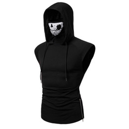 sleeveless hoodie xl 2xl Canada - Mens Hoodies Hooded Vest Plus Size Hooded Fashion Sleeveless Hoodies for Men 2020 New Arrival CX200723