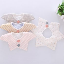 child shaped towels Australia - Maternal and infant products pure cotton baby waterproof Saliva towel 360 rotating shape bib saliva towel children bib