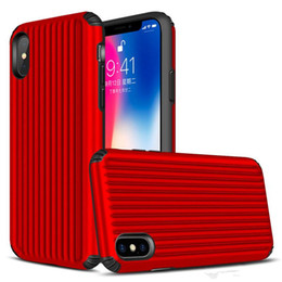 free cellphone cases Australia - Suitcase Style Design Hybrid Cell Phone Case for iphone 5 5s se 6 6s 7 8 Plus X Cover TPU+PC Shockproof Back Shell Cellphone Case DHL Free