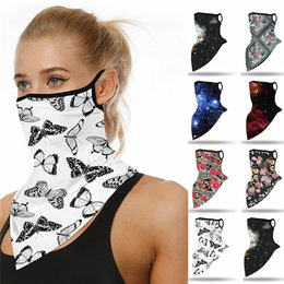 half face head mask UK - Fashion Women Half Face Mask Digital Printing Anti Dust Scarf Cycling Bandanas Masks Multifunctional Sports Head Scarves Washable Face Mask