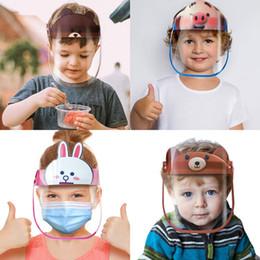 Wholesale pet sharks online – design US Stock Comfortable Kids Unicorn Shark Rabbit Protective Mask Anti Fog Anti UV Transparent PET Children Face Shield Mask For Boys Girls