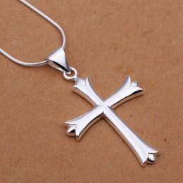mexican silver collar necklace Australia - wholesale fine 925-sterling-silver necklace fashion jewelry chain cross necklaces & pendants women men collar SN290
